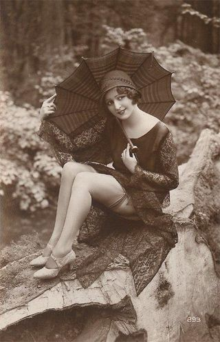 Flapper girl umbrella
