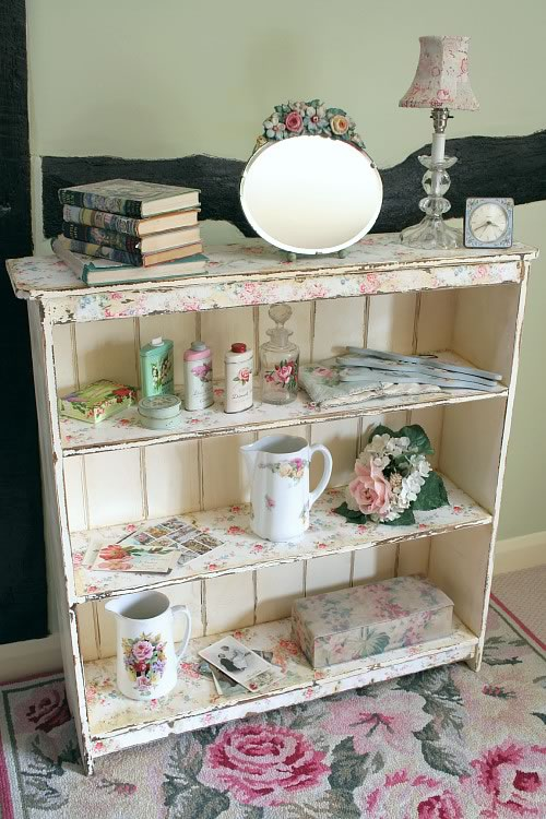 Floral bookcase